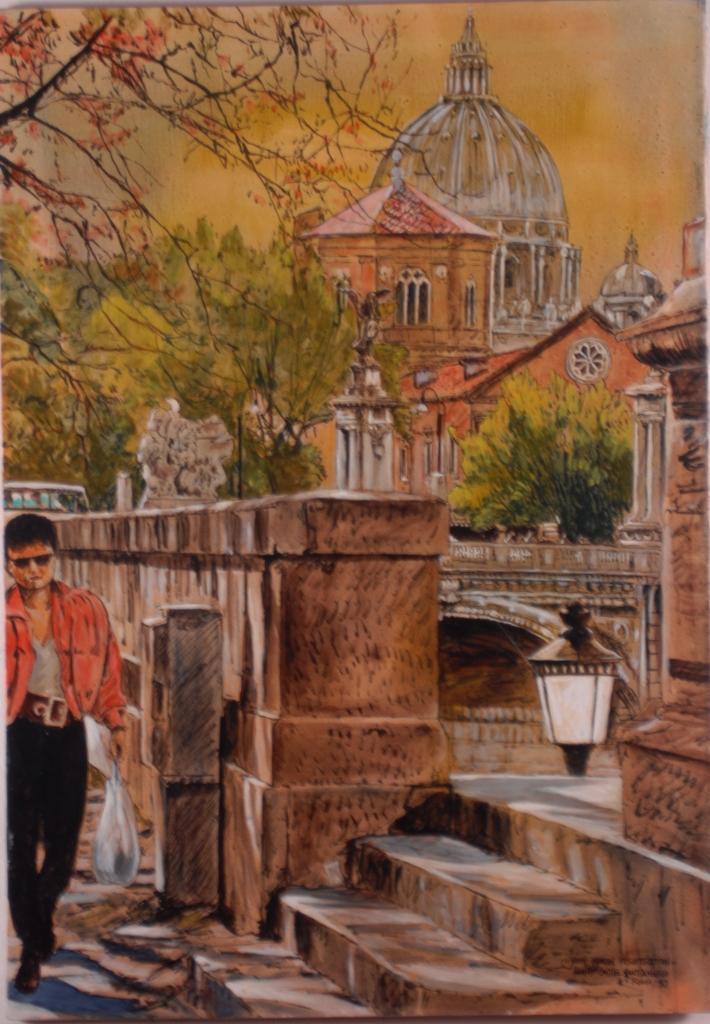 Ponte Castel Santangelo, 1992, 70x100