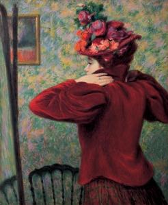 02_Federico Zandomeneghi, Il giubbetto rosso, 1895 circa, antica collezione Camillo Giussani