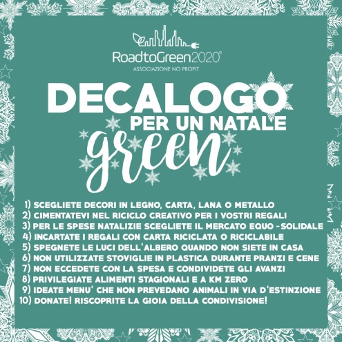 Road to green 2020 - Decalogo Natale green