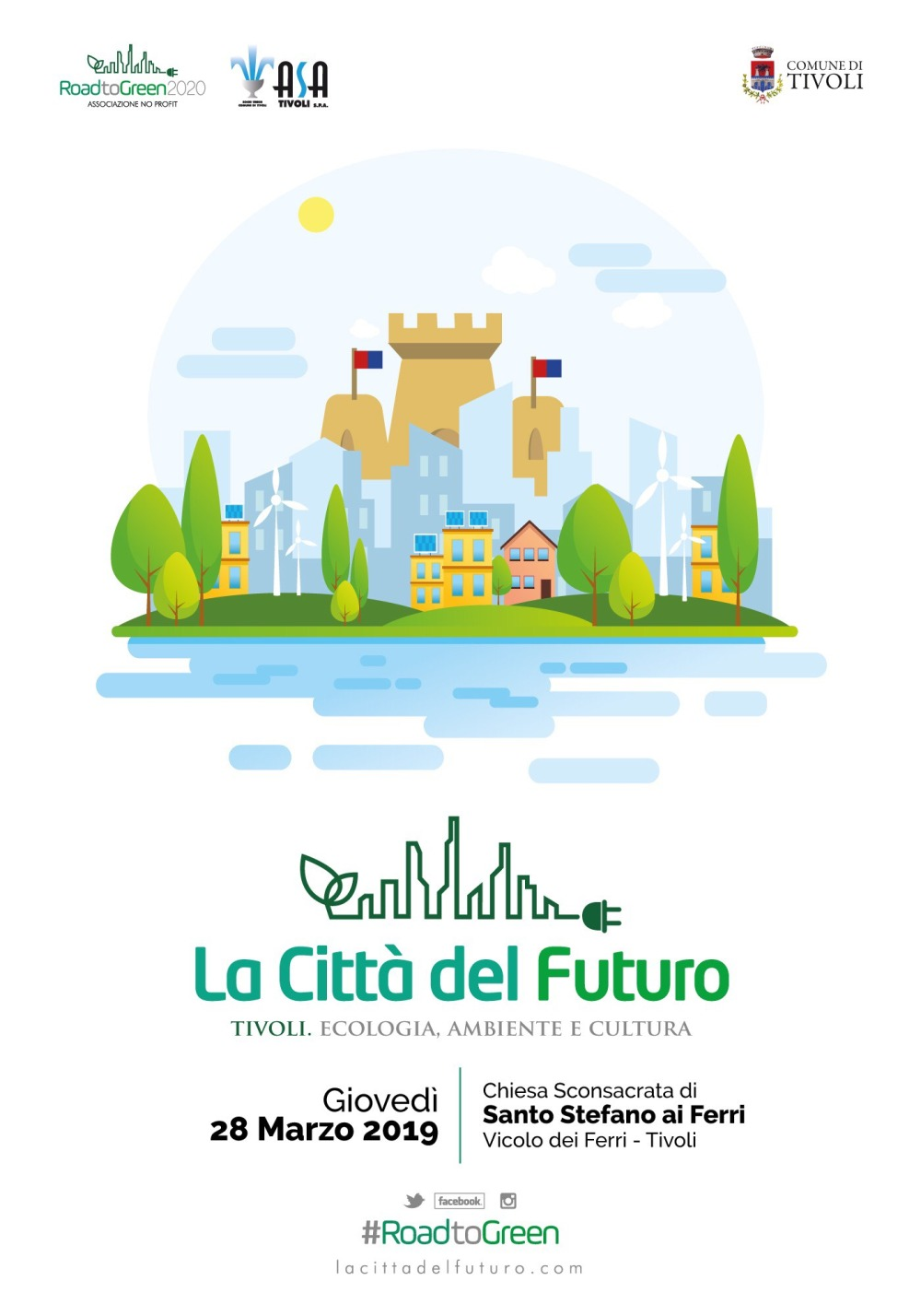 La città del futuro - Tivoli - Locandina