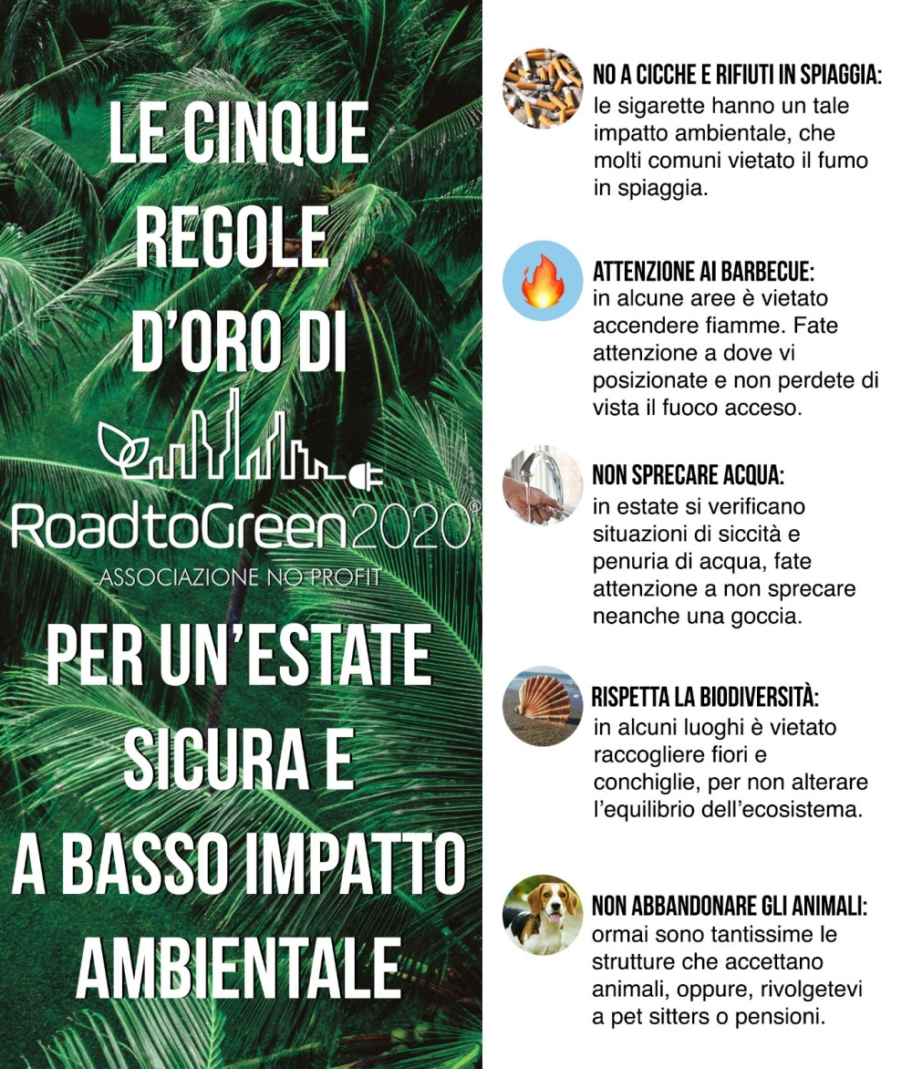 Road to green 2020 - Regole d'oro estate