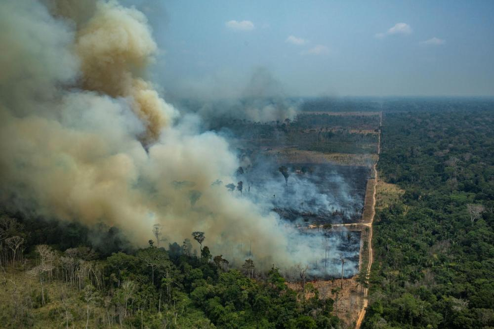 Forest Fires in Candeiras do Jamari, Amazon - Second Overflight (2019) Queimadas na Amazônia - Segundo Sobrevôo (2019)