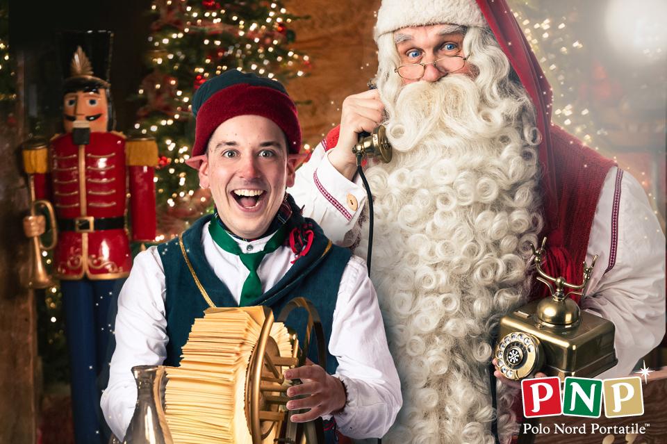 Babbo Natale con elfo