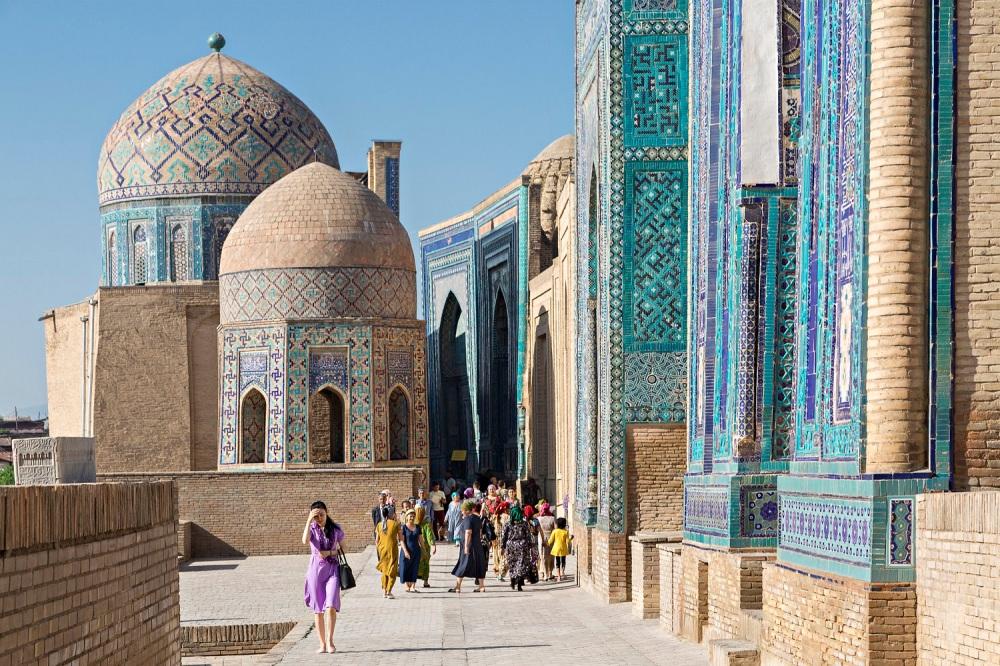 Shahi Zinda, in Samarkand, Uzbekistan.