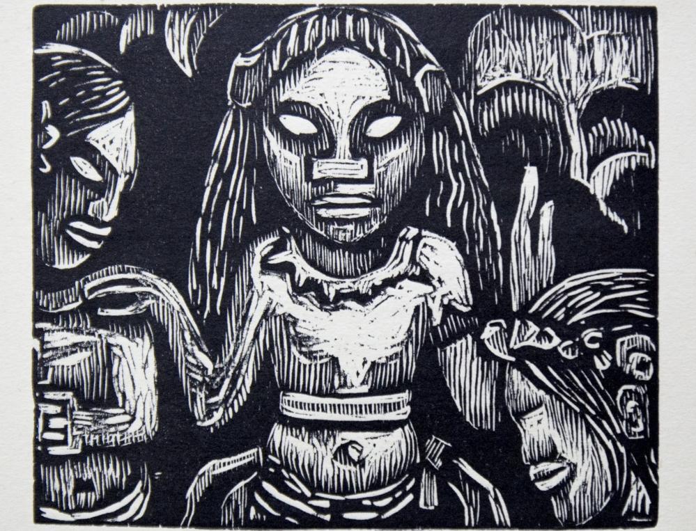 Gauguin - Il cantastorie Xilografia