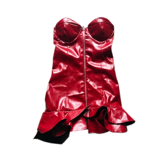 Lois mini dress ecopelle