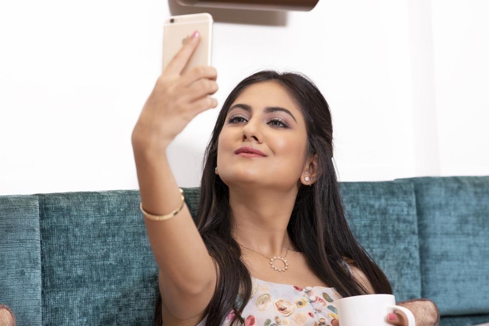 Ragazza in video chat